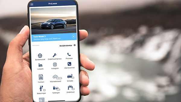 Alles over uw leaseauto in de nieuwe ProLease Berijder App